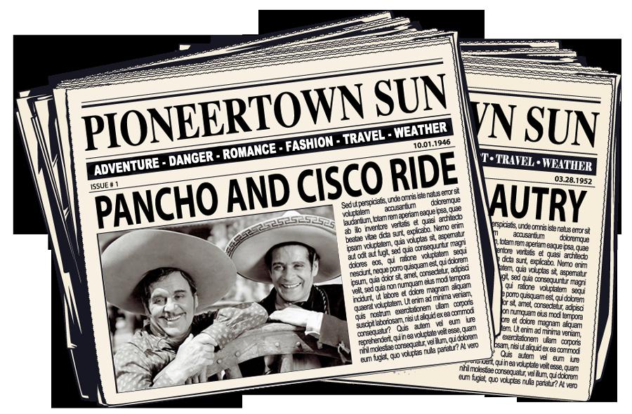 Pioneertown sun newspaper image